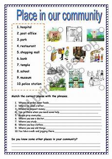 places in community worksheets 15955 place in our community esl worksheet by plakmutt
