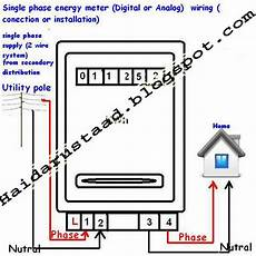 single phase energy meter kwh instillation for home wirng 171 electrical and electronic free