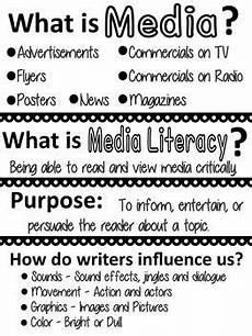 media anchor chart anchor charts media literacy