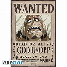 one poster wanted usopp new 52x35cm abystyle