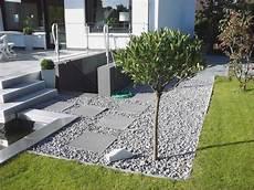 Moderne Gartengestaltung Mit Steinen Und Kies
