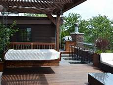 contemporary outdoor space with daybed hgtv