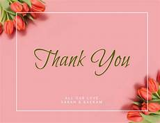 thank you card template free christian pink tulip thank you card template postermywall