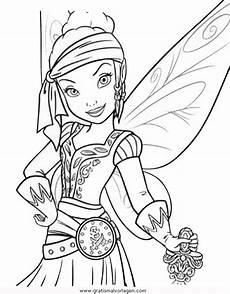 Tinkerbell Malvorlagen Quest Piratenfee 2 Gratis Malvorlage In Comic Trickfilmfiguren