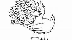 Ausmalbilder Maus Elefant Ente Ente Mit Blumen Die Seite Mit Der Maus Wdr