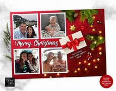 merry christmas photo collage card year in review personalized christmas photo card custom