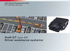 automotive repair manual 1995 audi riolet on board diagnostic system self study program 635 audi q7 type 4m driver assistance systems pdf online download
