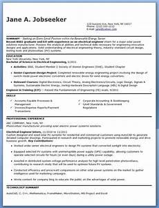 electrical engineer resume sle pdf entry level