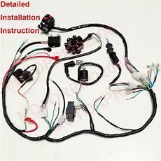 250cc wiring harness upgraded complete electrics atv 250cc 200cc cdi wire harness zongshen lifan ebay