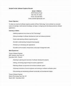 cv sle for engineering freshers engineering resume templates
