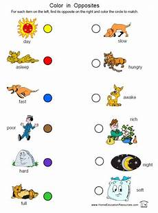 prek k opposites worksheets fran s freebies