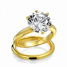 bling jewelry 3 5ct solitaire cz gold plated engagement wedding ring walmart com
