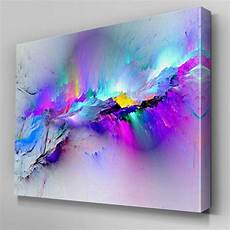 ab968 modern multicoloured blue canvas wall abstract