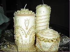 come decorare candele piccole creazioni gioielli di cera