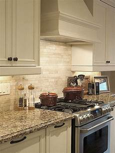 light ivory travertine kitchen subway backsplash tile