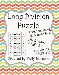 division puzzle 2 digit dividend no remainders by metscher