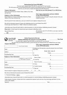form wh 4852 indiana substitute for form w 2 or form