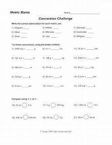 science class metric system conversion worksheet physical science metric system conversion
