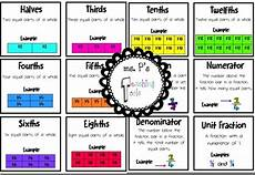 division worksheets how to 6207 fraction bundle math word walls fractions vocabulary cards