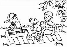 Ausmalbilder Osterhasen Familie Kostenlose Malvorlage Sommer Picknick Zum Ausmalen