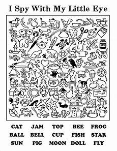 i spy printable worksheets i spy with words helps with letter and word recognition coloring pages teaching activities