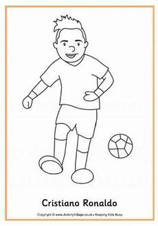 Fussball Ausmalbilder Ronaldo Soccer Colouring Pages