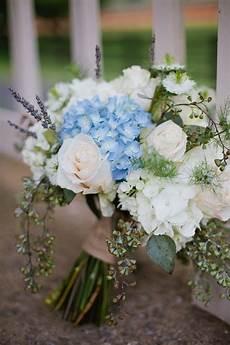 country wedding bridal bouquet ideas blue hydrangeas