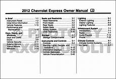 car owners manuals free downloads 2012 chevrolet express 2500 auto manual 2012 express van owners manual original
