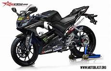 Modifikasi R25 2018 by Modifikasi Striping Yamaha R15 V3 Movistar Motogp 2018