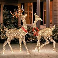 Decorations Outdoor Sale by Gold Light Up Reindeer Lights