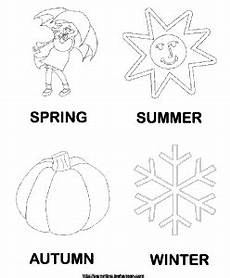 four seasons coloring worksheets 14776 4 seasons poster coloring page seasons preschool season colors seasons