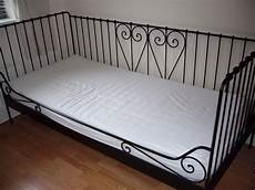 Ikea Meldal Black Ornate Metal Single Day Bed With