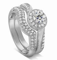 designer 2 carat diamond bridal ring for in white gold jeenjewels