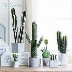 vasi per cactus miz 1 artificial potted cactus real artificial