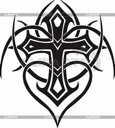 tribal cross stock vector graphics cliparto