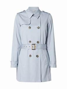 s oliver label trenchcoat mit tailleng 252 rtel in blau