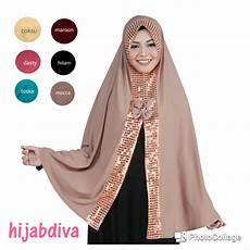 Jilbab Syar I Pesta Voal Motif