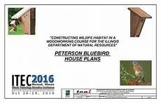 peterson bluebird house plans pdf peterson bluebird house plans 2016 itec idnr wildlife