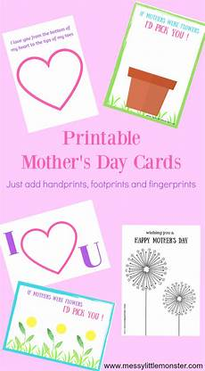 s day handprint printable 20558 printable s day cards just add handprints or footprints