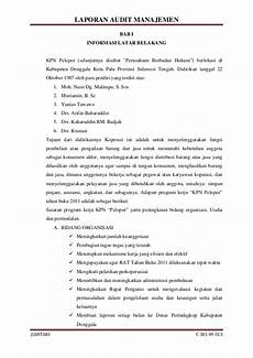 contoh laporan hasil audit pengadaan barang dan jasa