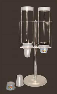 bicchieri in plexiglass portabicchieri a 2 tubi in plexiglass trasparente