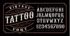 vintage tattoo font download free vectors clipart