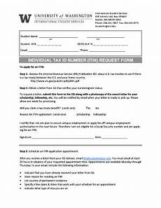 fillable online itin request form international