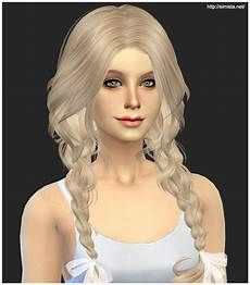 custom content hair sims 4 sims 4 hairs simista newsea s ela 23 hairstyle retextured