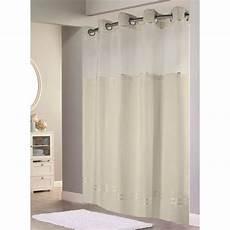hookless mystery shower curtain hookless beige mystery shower curtain with matching flat