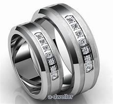 his n tungsten carbide diamond couple wedding band
