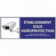 panneau de securite videosurveillance bleu pour