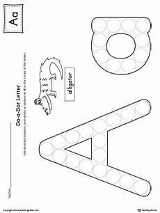 printable dotted letter worksheets 23751 letter a do a dot worksheet myteachingstation