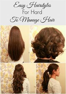 Easy To Manage Hairstyles For Thick Hair easy hair styles for to manage hair