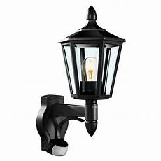 black traditional pir wall light l15 the lighting superstore
